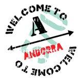 Grunge för Andorra stämpelgummi Arkivfoto