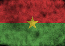 grunge för burkinafasoflagga Arkivbild