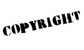 Grunge för Copyright stämpelgummi Arkivbilder
