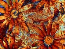 grunge för konstbakgrundsblomma Royaltyfri Fotografi