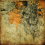 grunge för konstbakgrundsdiagram Arkivbilder