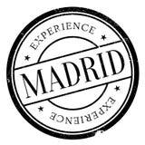 Grunge för Madrid stämpelgummi stock illustrationer