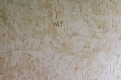 Grunge för textur för vit- och brunttrottoarvägg Arkivbild