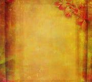 grunge för lyckönskanblommaram Arkivbilder