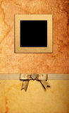 Grunge fabric photo frame Royalty Free Stock Photo