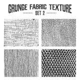 Grunge fabric textures set 2. Vector backgrounds Stock Photo