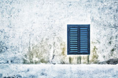 Grunge facade with single window details Royalty Free Stock Photo