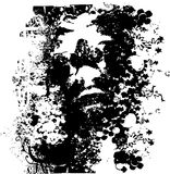 Grunge face illustration Royalty Free Stock Photography