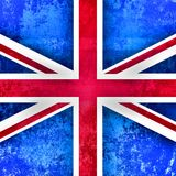 Grungy Union Jack British Flag. A grunge and faded style Union Jack flag of Great Britain Stock Images