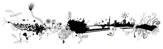 Grunge Fahnen-Auslegung Stockfotos