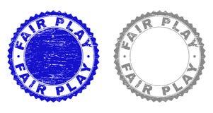 Grunge FAIR PLAY Textured Stamp Seals vector illustration