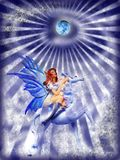 Grunge fairy Stock Image