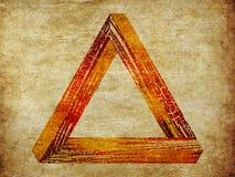 Grunge fantastic triangle Royalty Free Stock Photo