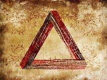 Grunge fantastic triangle Stock Photo