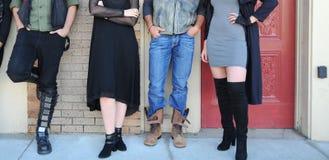 Grunge fashion models outdoors. Royalty Free Stock Photos
