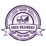Grunge Faster Than The Wind delivery stamp Royalty Free Stock Images