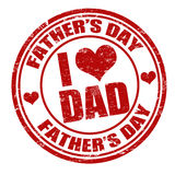 Fathers day stamp Royalty Free Stock Photo
