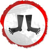 Grunge feet sign Royalty Free Stock Photo