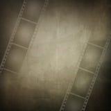 Grunge Feld gebildet vom Fotofilmstreifen Stockfotos