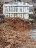 Grunge Fence Landscape. Royalty Free Stock Photo