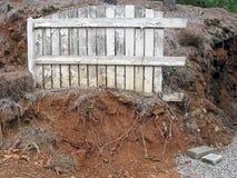 Grunge Fence Lanscape. Royalty Free Stock Photography