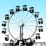 Grunge Ferris koło Zdjęcia Stock