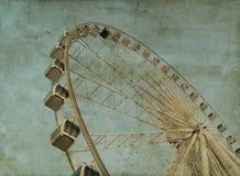 Grunge Ferris Wheel Fotografering för Bildbyråer