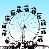 Grunge Ferris Wheel Stock Photos