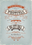 Grunge Festival Invitation Poster Stock Photography