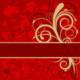 Grunge festive background. With floral decoration and space for Your text Stock Image