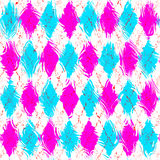 Grunge festive checkered pattern Stock Photos