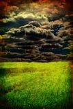 Grunge field Stock Image