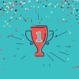 Grunge filiżanki nagroda zwycięzcy sporta rywalizacja royalty ilustracja