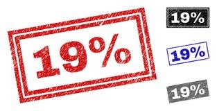 Grunge filigranes de rectangle rayés 19 par pour cent illustration stock