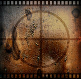 Grunge film. Brown old film texture. Abstract movie illustration Royalty Free Stock Image