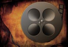Grunge Film. Film Reel over grunge background Stock Images