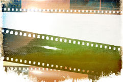 Grunge film background. Grunge green film strip background Royalty Free Stock Photo