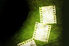 Grunge film background. Grunge green film strip background Stock Photo