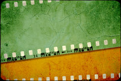 Grunge film background. Grunge film strip background with space for text or image Stock Photography