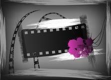 Grunge film banner. Film banner in style grunge. Vector illustration Stock Images