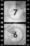 Grunge film countdown Stock Image