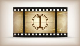 Grunge film countdown Royalty Free Stock Photos