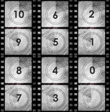 Grunge film countdown in dark color. Grunge style Stock Photos