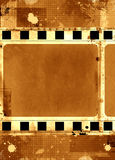 Grunge film frame. Computer designed highly detailed grunge textured film frame with space for your text or image Stock Photography