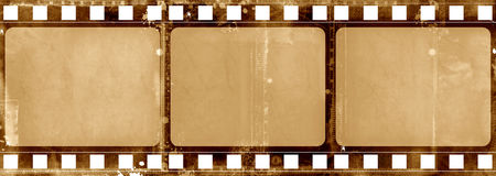 Grunge film frame. Computer designed highly detailed grunge textured film frame with space for your text or image Stock Photos