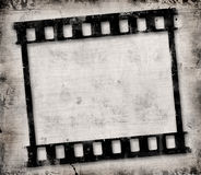 Grunge film frame. With space for text Stock Images