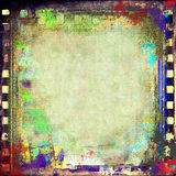 Grunge film frame. Grunge colorful background with film frame Stock Photo