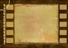 Grunge film frame. Computer designed highly detailed film frame with space for your text or image. Nice grunge layer for your projects Royalty Free Stock Photography