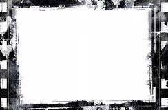 Grunge film frame. Computer designed highly detailed grunge film frame with space for your text or image. Great grunge element for your projects Royalty Free Stock Photography