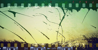 Grunge film frame. Grunge dripping film strip frame Royalty Free Stock Photography